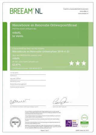 nieuwbouw en renovatie ontwerpcertificaat VidaXL Pagina 001